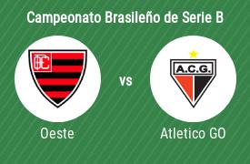 Oeste Futebol Clube vs Atlético Clube Goianiense