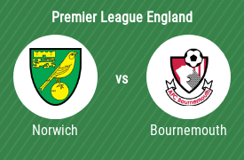 Norwich City FC mot AFC Bournemouth
