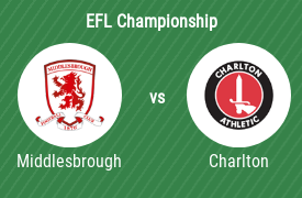 Middlesbrough FC vs Charlton Athletic FC