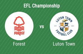 Nottingham Forest FC mot Luton Town Football Club