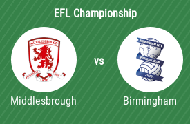 Middlesbrough FC mot Birmingham City Football Club