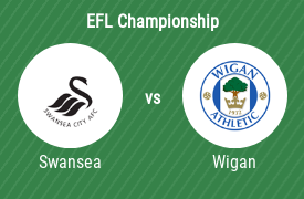 Swansea City AFC mot Wigan Athletic FC