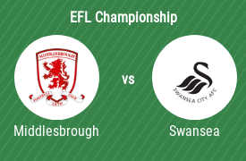 Middlesbrough vs Swansea City