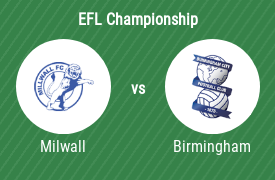 Millwall Football Club vs Birmingham City Football Club
