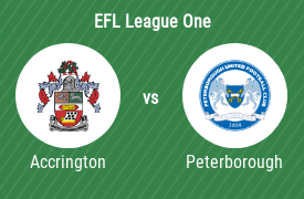 Accrington Stanley FC mot Peterborough United Football Club