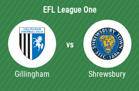 Gillingham Football Club mot Shrewsbury Town Football Club