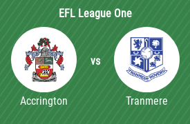 Accrington Stanley FC mot Tranmere Rovers Football Club
