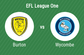 Burton Albion FC vs Wycombe Wanderers Football Club