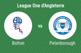 Bolton Wanderers vs Peterborough United