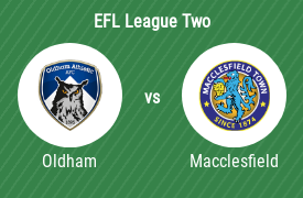 Oldham Athletic AFC vs Macclesfield Town Football Club