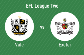 Port Vale Football Club vs Exeter City Football Club