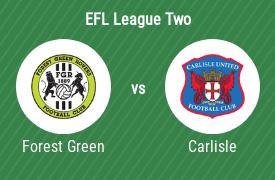 Forest Green Rovers Football Club vs Carlisle United Football Club