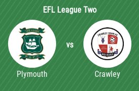 Plymouth Argyle Football Club vs Crawley Town Football Club