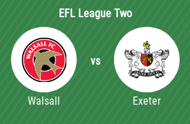 Walsall Football Club vs Exeter City Football Club