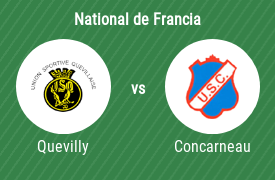 US Quevilly vs US Concarneau