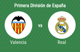 Valencia Club de Fútbol vs Real Madrid Club de Fútbol