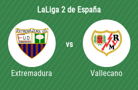 UD Extremadura vs Rayo Vallecano de Madrid