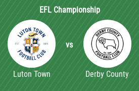 Luton Town Football Club mot Derby County FC