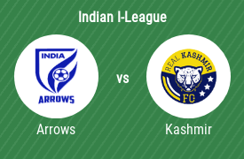 Indian Arrows vs Real Kashmir Football Club