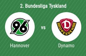 Hannover 96 mot SG Dynamo Dresden