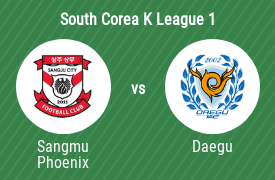 Sangju Sangmu FC vs Daegu Football Club