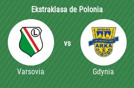 Legia de Varsovia vs Arka Gdynia