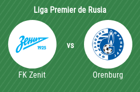 Zenit de San Petersburgo vs FC Orenburg