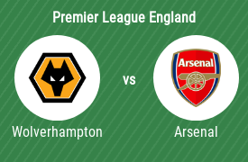 Wolverhampton Wanderers FC mot Arsenal Football Club