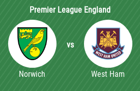 Norwich City FC mot West Ham United FC