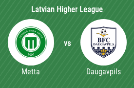 Football Club METTA vs BFC Daugavpils