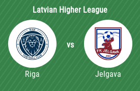 Riga Football Club vs Football Club Jelgava