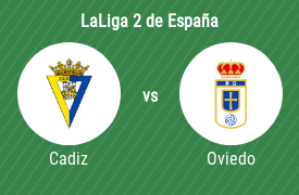 Cádiz Club de Fútbol vs Real Oviedo SAD