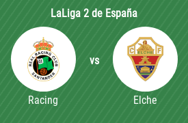 Racing Club de Santander vs Elche Club de Fútbol