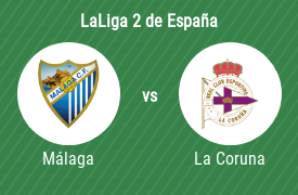 Málaga Club de Fútbol vs Deportivo La Coruna