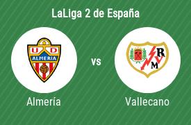 Unión Deportiva Almería vs Rayo Vallecano de Madrid