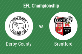 Derby County FC mot Brentford Football Club