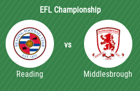 Reading Football Club vs Middlesbrough FC
