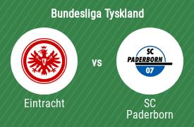 Eintracht Frankfurt mot SC Paderborn 07
