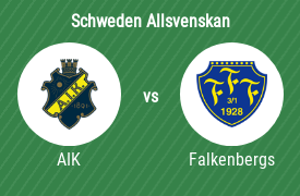 AIK Stockholm gegen Falkenbergs FF