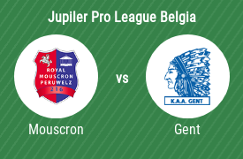 Royal Excel Mouscron vs KAA Gent